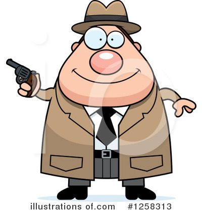 Detective Clipart #1258313 by Cory Thoman