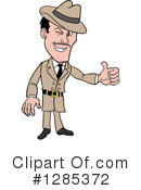 Detective Clipart #1285372 by LaffToon