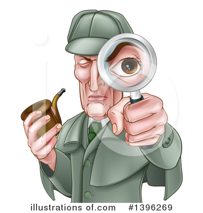 Magnifying Glass Clipart #1396269 by AtStockIllustration