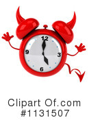 Royalty-Free (RF) Devil Alarm Clock Clipart Illustration #1131507