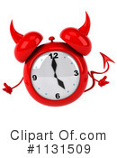 Royalty-Free (RF) Devil Alarm Clock Clipart Illustration #1131509