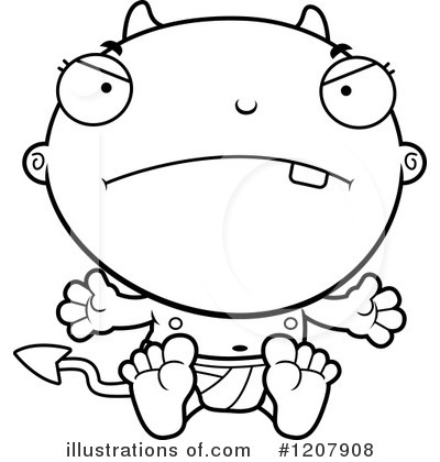 Devil Baby Clipart #1207908 by Cory Thoman