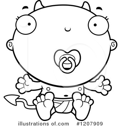 Royalty-Free (RF) Devil Baby Clipart Illustration by Cory Thoman - Stock Sample #1207909