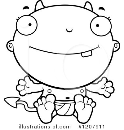 Devil Baby Clipart #1207911 by Cory Thoman