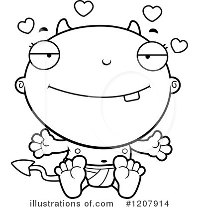 Devil Baby Clipart #1207914 by Cory Thoman