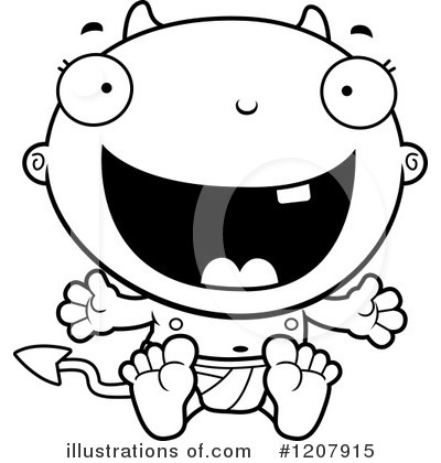 Devil Baby Clipart #1207915 by Cory Thoman