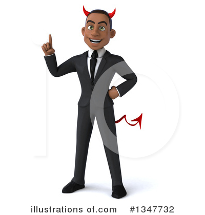 Young Black Businessman Clipart #1347732 by Julos