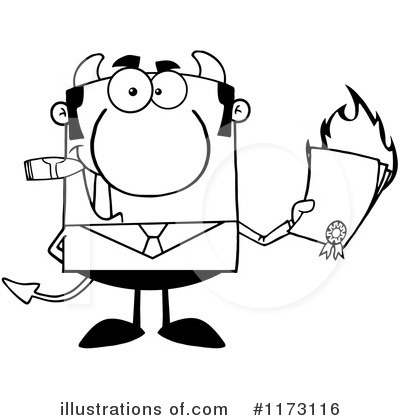 Devil Businessman Clipart #1173116 by Hit Toon