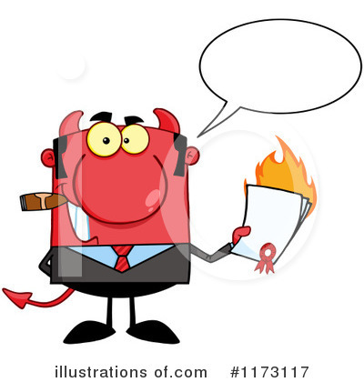 Devil Businessman Clipart #1173117 by Hit Toon
