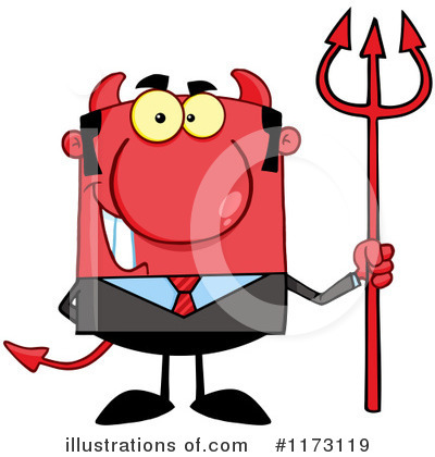 Devil Businessman Clipart #1173119 by Hit Toon