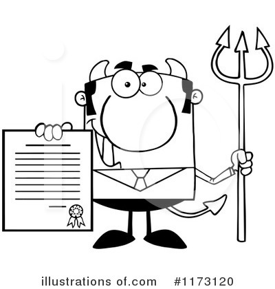 Devil Businessman Clipart #1173120 by Hit Toon