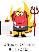 Devil Businessman Clipart #1173121 by Hit Toon