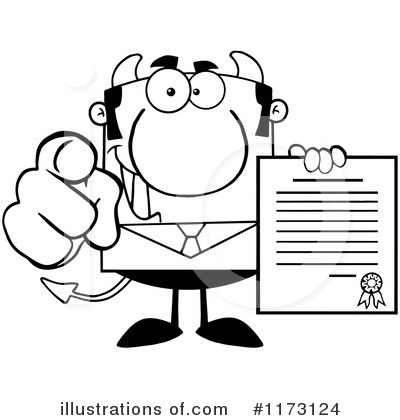 Devil Businessman Clipart #1173124 by Hit Toon