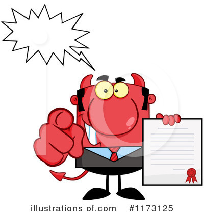 Devil Businessman Clipart #1173125 by Hit Toon
