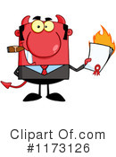 Royalty-Free (RF) devil businessman Clipart Illustration #1173126