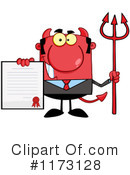 Royalty-Free (RF) devil businessman Clipart Illustration #1173128