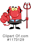 Royalty-Free (RF) devil businessman Clipart Illustration #1173129