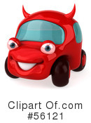 Royalty-Free (RF) devil car Clipart Illustration #56121