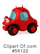 Royalty-Free (RF) devil car Clipart Illustration #56122