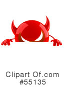 Royalty-Free (RF) devil character Clipart Illustration #55135