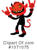 Royalty-Free (RF) devil Clipart Illustration #1071075