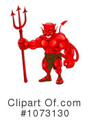 Royalty-Free (RF) devil Clipart Illustration #1073130