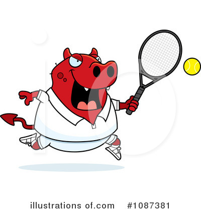 Tennis Clipart #1087381 by Cory Thoman