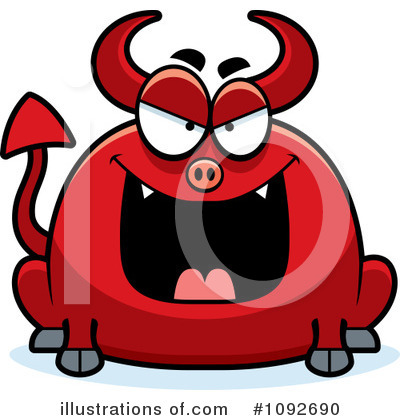 Royalty-Free (RF) Devil Clipart Illustration by Cory Thoman - Stock Sample #1092690