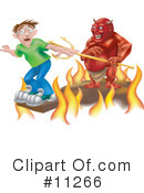 Royalty-Free (RF) Devil Clipart Illustration #11266