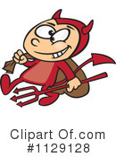 Royalty-Free (RF) Devil Clipart Illustration #1129128