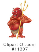 Royalty-Free (RF) devil Clipart Illustration #11307