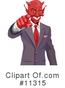 Royalty-Free (RF) Devil Clipart Illustration #11315