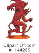 Royalty-Free (RF) Devil Clipart Illustration #1144289