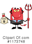 Royalty-Free (RF) devil Clipart Illustration #1173748