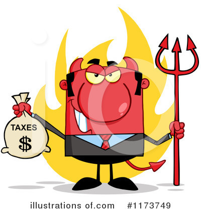 Devil Businessman Clipart #1173749 by Hit Toon