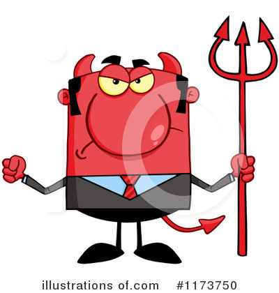 Devil Businessman Clipart #1173750 by Hit Toon