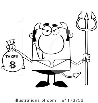 Devil Businessman Clipart #1173752 by Hit Toon