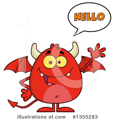 Royalty-Free (RF) Devil Clipart Illustration by Hit Toon - Stock Sample #1355283