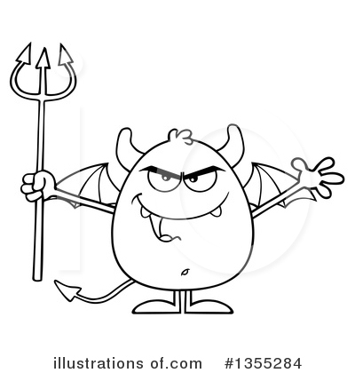 Royalty-Free (RF) Devil Clipart Illustration by Hit Toon - Stock Sample #1355284