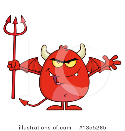 Royalty-Free (RF) Devil Clipart Illustration by Hit Toon - Stock Sample #1355285