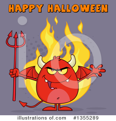 Royalty-Free (RF) Devil Clipart Illustration by Hit Toon - Stock Sample #1355289