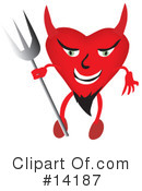 Royalty-Free (RF) devil Clipart Illustration #14187