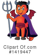 Royalty-Free (RF) Devil Clipart Illustration #1419447