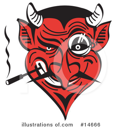 Royalty-Free (RF) Devil Clipart Illustration by Andy Nortnik - Stock Sample #14666