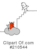Royalty-Free (RF) devil Clipart Illustration #210544