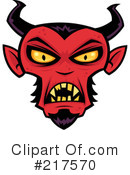 Royalty-Free (RF) devil Clipart Illustration #217570