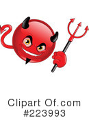 Royalty-Free (RF) devil Clipart Illustration #223993