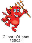 Royalty-Free (RF) devil Clipart Illustration #35024
