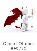 Royalty-Free (RF) devil Clipart Illustration #46795