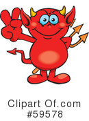 Royalty-Free (RF) devil Clipart Illustration #59578